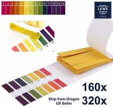 320x Ph Indicator Test Strips 1 14 Laboratory Paper Litmus Tester Urine Saliva