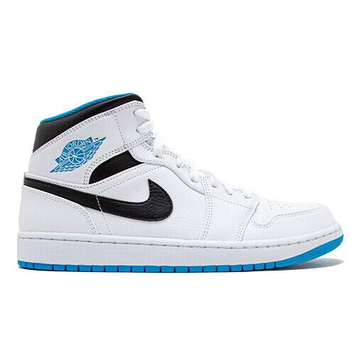 Size 10.5 - Air Jordan 1 Mid White for sale online | eBay