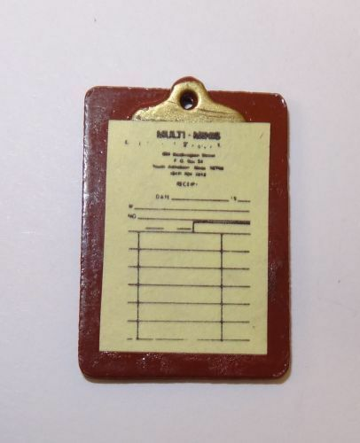 Dollhouse Clipboard with Invoice for Doll House Miniature Shop Store or Office