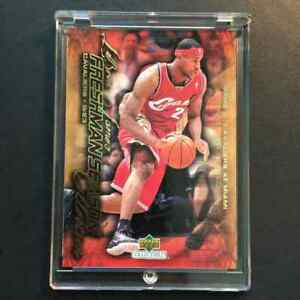 LEBRON-JAMES-2003-UPPER-DECK-COLLECTIBLES-8-FRESHMAN-SEASON-GOLD-FOIL-ROOKIE