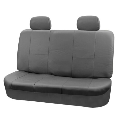 PU Leather Seat Covers for Car SUV Van Full Seat Covers Set Solid Gray