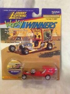 Johnny-Lightning-Wacky-Winners-Bad-Medicine-Car-Playing-Mantis-NIB-Diecast-1996