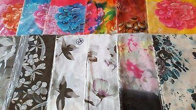 Joblot 24 pcs Birds /& Flower design chiffon scarf wholesale 50x160 cm Lot 53