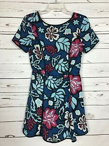 Adelyn Rae Anthropologie Women's XS Extra Small Blue Floral Spring Summer Romper