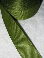 "Berwick/Offray Grosgrain Ribbon   ** Olive Green **  7/8"" Wide, 15+ Yard Roll"