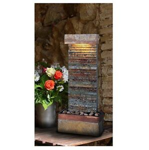Image Is Loading Indoor Water Fountain Slate Portable Waterfall Decor Wall
