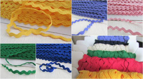 trimming 7mm Large polyester ric rac braid per 3m in range of colours