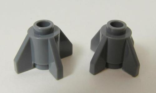 Round 1 x 1 w Fins 4588 DK BL GRAY Brick LEGO Parts~ 2