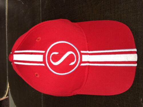 Apple Krate Stingray  Schwinn Hat  Red w//white Baseball cap with metal tag s-m