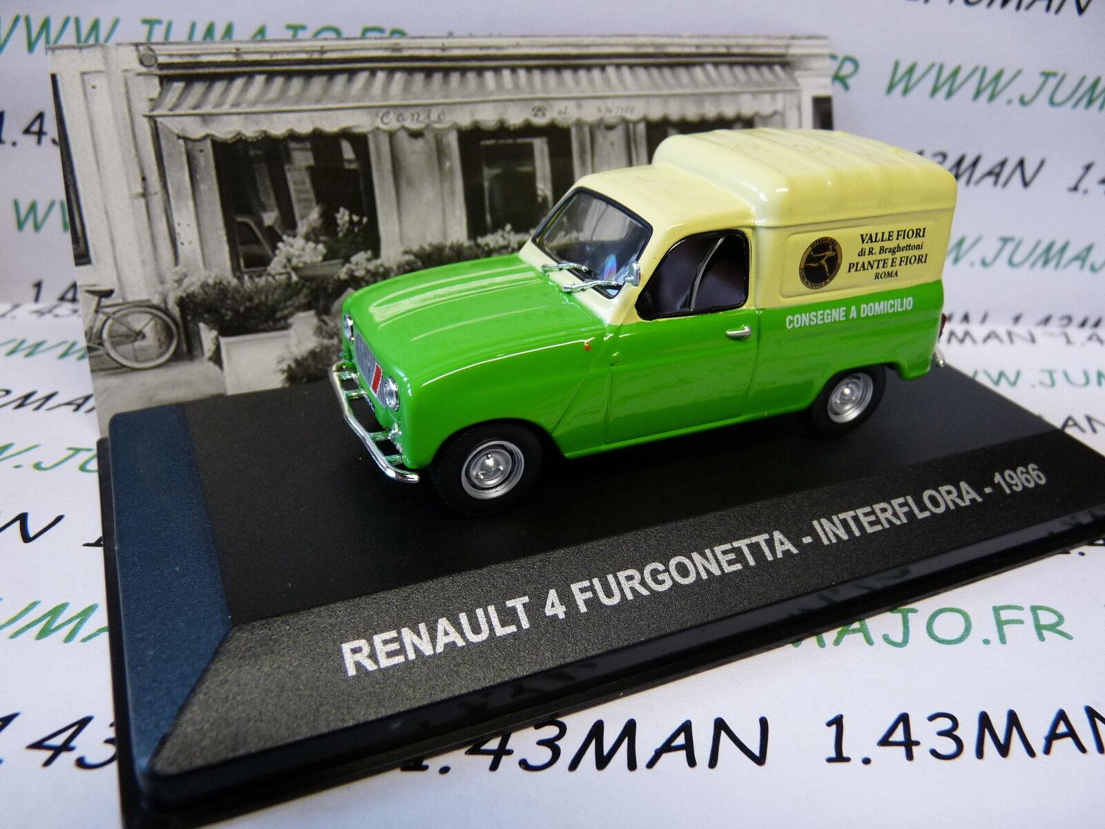 PIT61D 1 43 IXO Altaya Véhicule d'époque RENAULT 4 L furgonetta INTERFLORA 1966