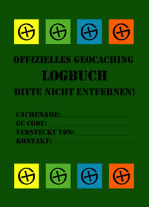 5 X Geocaching Livre De Bord - 40 Pages-doses-journal De Bord, Récipients Cachette Boîte-afficher Le Titre D'origine