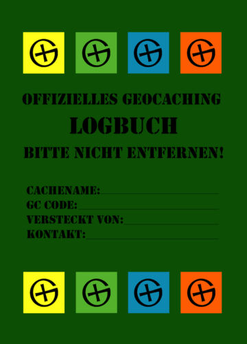 5 x Geocaching Logbooks - 40 Seiten - Bottles - Logbook, Container Hideout Can