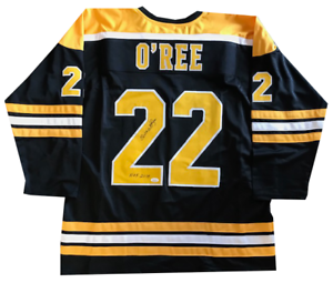 Willie-O-039-Ree-Autographed-034-HOF-2018-034-Boston-Bruins-Jersey-JSA