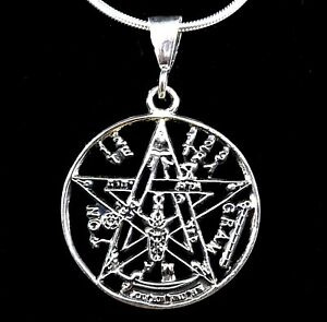 Solid 925 sterling silver tetragrammaton pentacle of solomon pendant image is loading solid 925 sterling silver tetragrammaton pentacle of solomon aloadofball Choice Image
