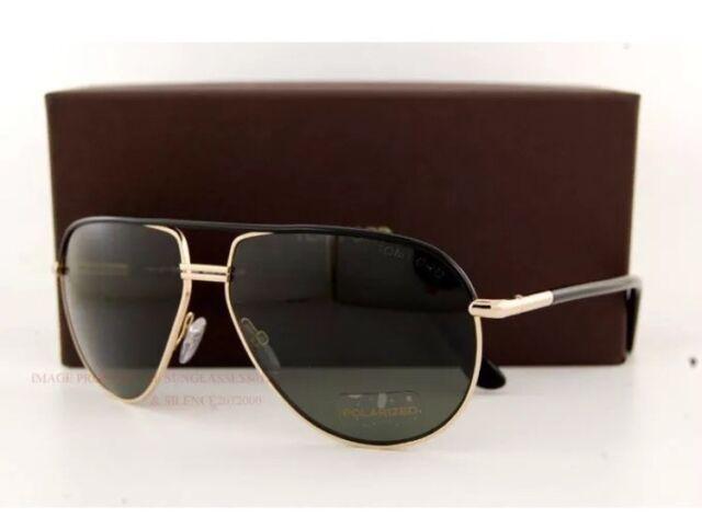 9bcfca875 Tom Ford Sunglasses Men Aviator Polarized TF 285 Black 01j Cole 61mm ...