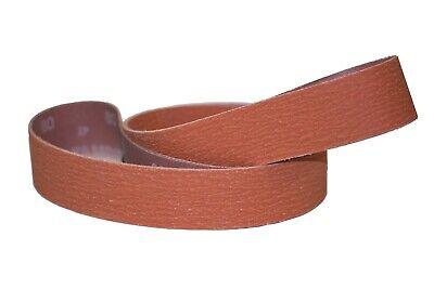 """2/"""" x 42/"""" Sanding Belts 60 Grit Premium Orange Ceramic 5pcs"""