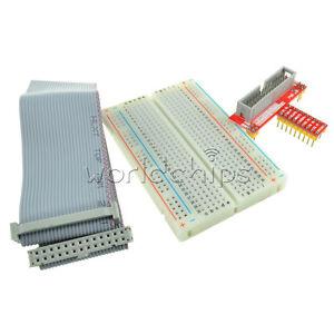26pin GPIO ribbon cable Raspberry Pi GPIO extension adapter MB102 breadboard