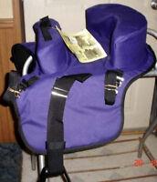Abetta Buddy Seat 27202pr,child Up To 50 Lbs,fits Behind English/western Saddle