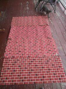 vintage christmas corobuff red brick corrugated fireplace paper 2 x rh ebay com