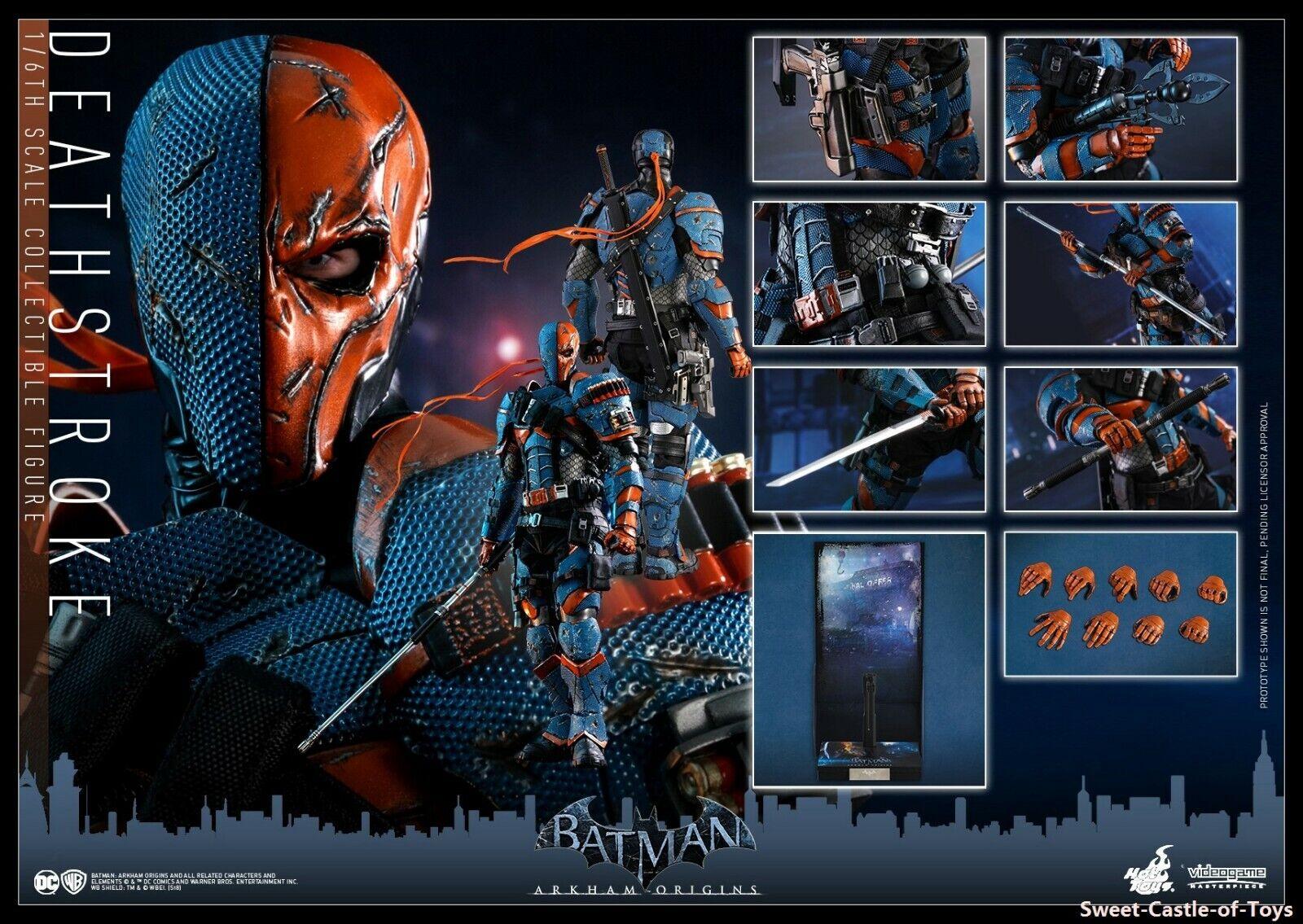 1 1 1 6 Hot Toys Action Figure DC Batman Arkham Oringis Deathstroke VGM30 In Stock caf