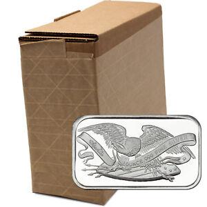 Retro-SilverTowne-Eagle-amp-Shield-1oz-999-Fine-Silver-Bar-LOT-of-100