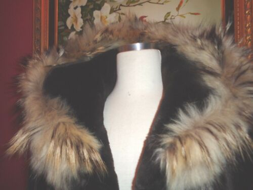 Brown Small Fur Smuk W Marvin Tykkeløs Xlnt Faux Coat Hood Richards q7wET7xH