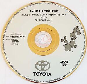 Toyota-Lexus-Navigation-ORIGINAL-DVD-TNS310-2011-2012-Nord-Europa-North-Europe