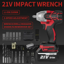 12 520nm Electric Impact Wrench Cordless Brussless Driver Gun Li Ion Battery