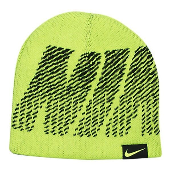a1c0a6b9dff Nike Boys Reversible Jacquard Beanie Hat Volt One Size 9a2593369 for sale  online