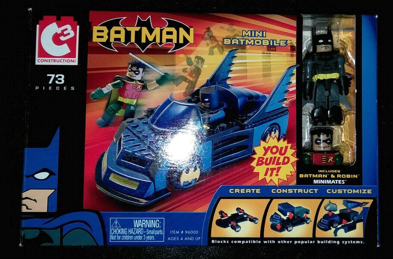 Minimates BATMAN DC C3  MINI BATMOBILE and BATMAN
