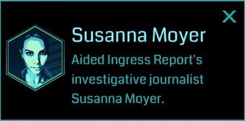 Ingress 2015 Original Susanna Moyer Badge - Persepolis pack - NEW / UNUSED
