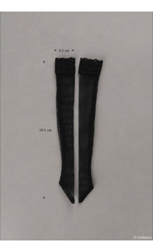 Net Band Stocking Black Dollmore 12inch fashion doll stockings