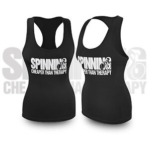Ladies-Spinning-Cheaper-than-Therapy-Racerback-Vest-Workout-Tank-Top-Womens-LA4