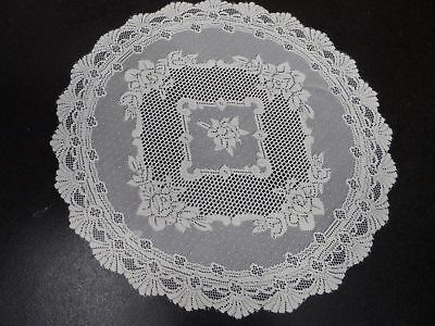 """TRADITIONAL FLORAL CREAM LACE STAIN RELEASE TABLE CLOTH 36/"""" SQUARE £7.78 EACH"""