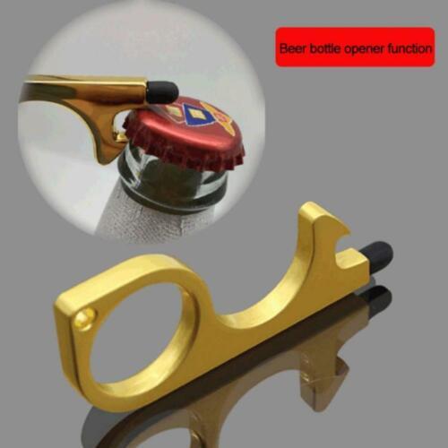 3PCS Clean Key Door Opener Handheld Brass EDC Keychain No Touch Hand Tool