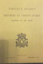 1970 Catalogue de Vente VERSAILLES TABLEAUX ANCIENS MEUBLES OBJETS D'ART ET STYL