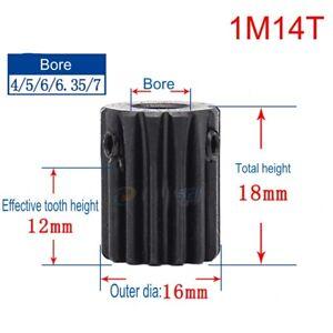 1 Mod 14T Pinion Gear #45 Steel Spur Gear Tooth Diameter 16mm Thickness 10mm