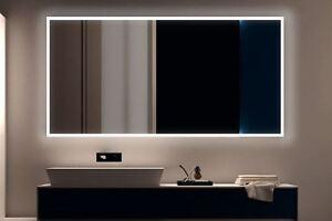 Details zu LED BAD SPIEGEL Badezimmerspiegel mit Beleuchtung Badspiegel  Wandspiegel S100