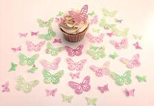 48 commestibili BELLA RACCOLTA FARFALLE TASTINI WAFER decorazioni per cupcake