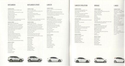 Outlander Lancer Evolution Mirage i-Miev 2015 Mitsubishi 24-page Car Brochure