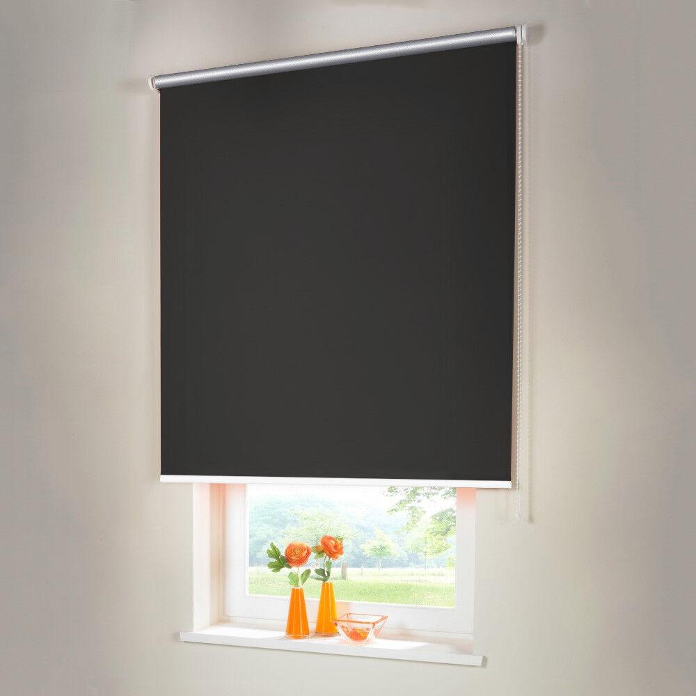 Persiana para oscurecer Thermo seitenzug kettenzug persiana-altura 130 cm gris oscuro