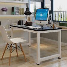 Black Wood Computer Desk Pc Laptop Table Study Workstation Home Office Furniture