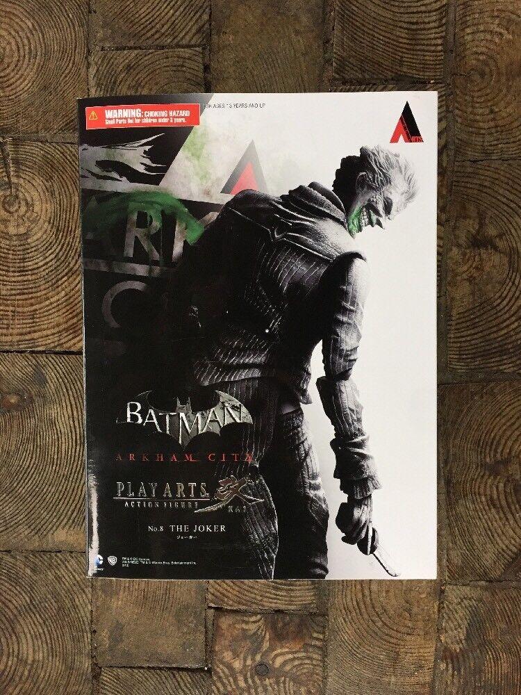 Joker bathomme arkham city play arts action figure  complete never opened  pas cher en haute qualité