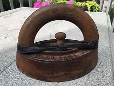 1800s Antique Enterprise Sad Flat Iron w/Wood Handle, FC Co, Philadelphia, PA