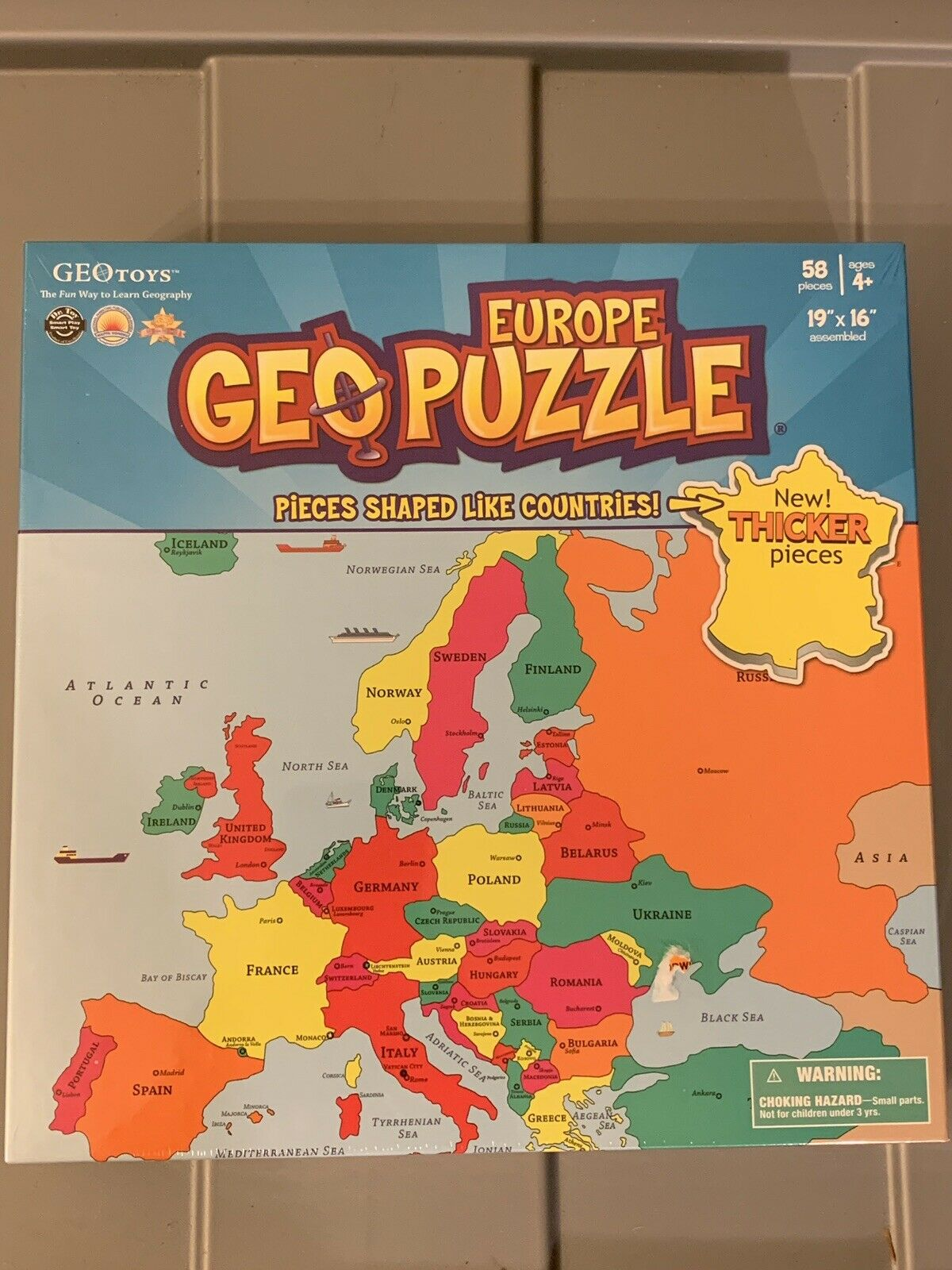 by Geotoys Educational Geography Jigsaw Puzzle 58 pcs GeoPuzzle Europe