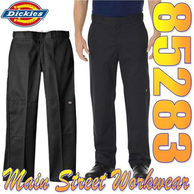 Dickies 85283 Loose Fit Double Knee Work Pant Black / Cell Phone Pocket