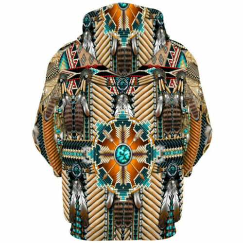 Sweatshirt Dress Men Print Casual Indian Pullover Shirt 3D Sweater Hoodie Hooded