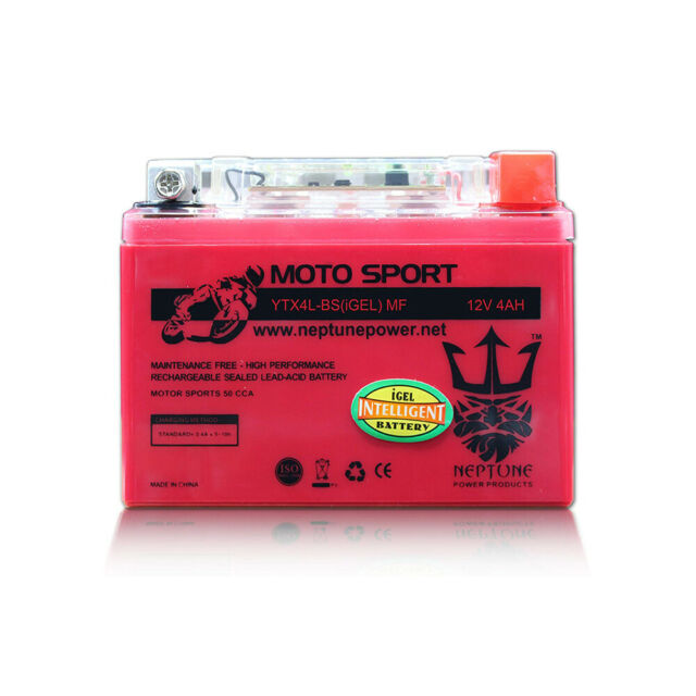 50CC All Neptune YTX4L-BS GEL Replacement for Scooter Battery HONDA SE50 Elite
