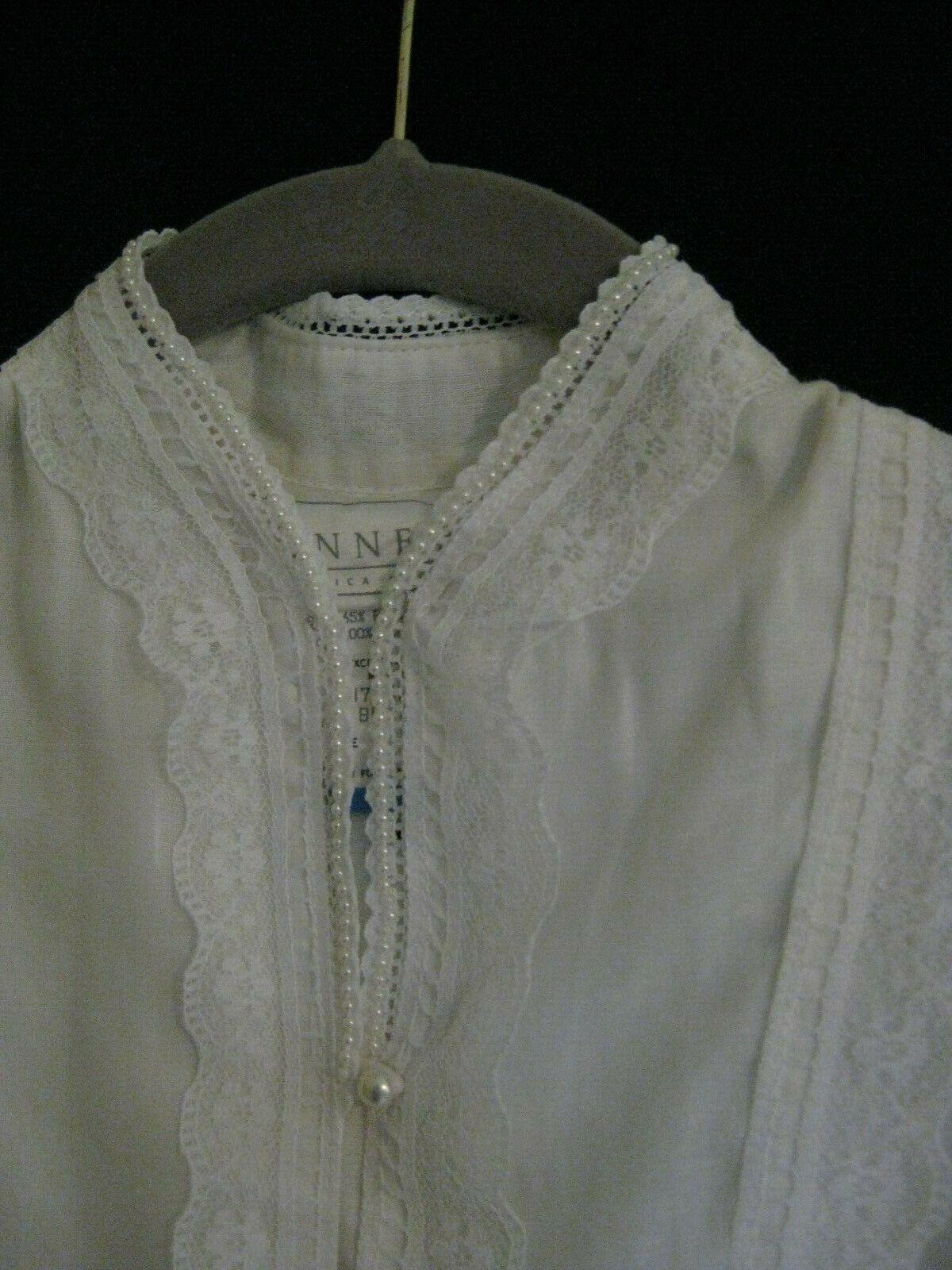 Gunne Sax White Dress Girls Size 12 Pre-Owned - image 3