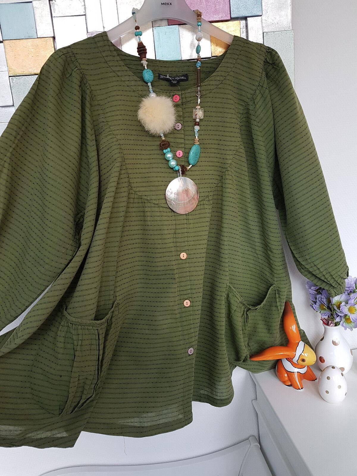 Gudcourir Sjöden Magnifique grand intersecté tunique 100% Cotton taille XL 210